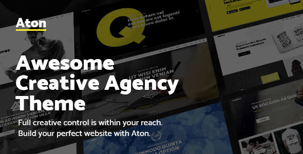 Aton – Modern Creative Design Agency Theme