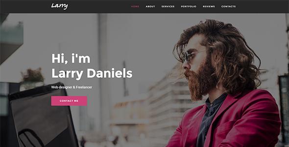 Larry. - Personal Onepage WordPress Theme