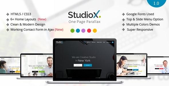 StudioX - One Page Parallax Joomla Template