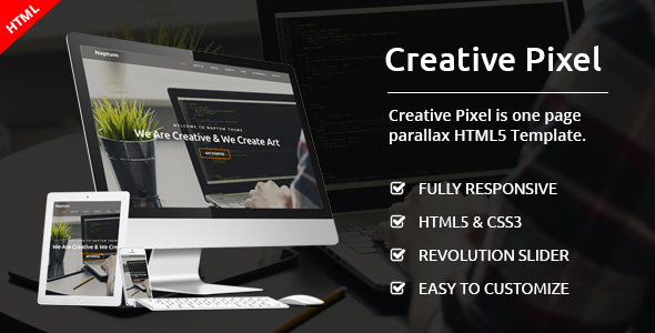 Creative Pixel - One Page Agency Template