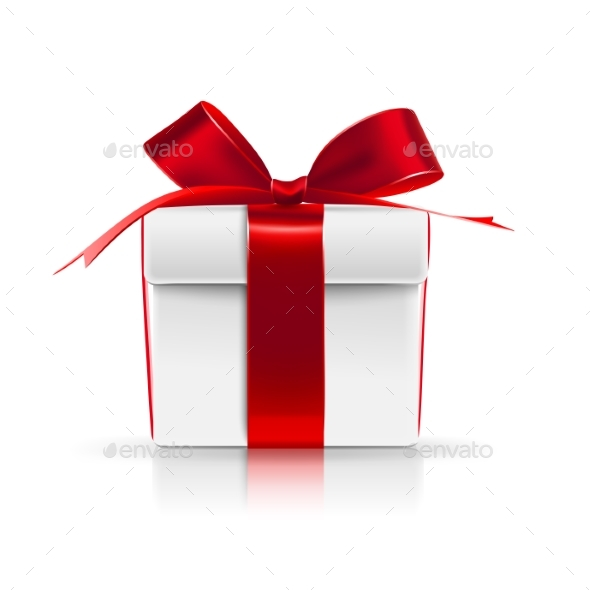 Gift Boxes with Red Bows