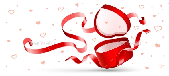 Open Gift with Red Ribbon
