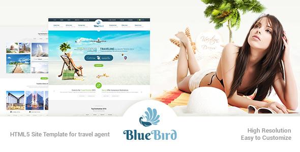 Blue Bird | Responsive Tours Travel Site Template