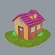 Low Poly House 3 - 3DOcean Item for Sale