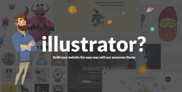 Illustrator - Illustrator, Designer and Artist Portfolio Theme
