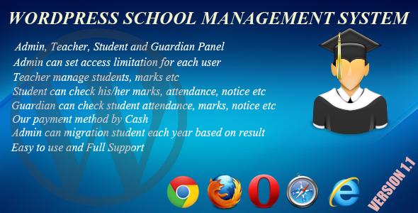 Wordpress School Management System