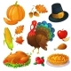 Set of Thanksgiving Icons - GraphicRiver Item for Sale
