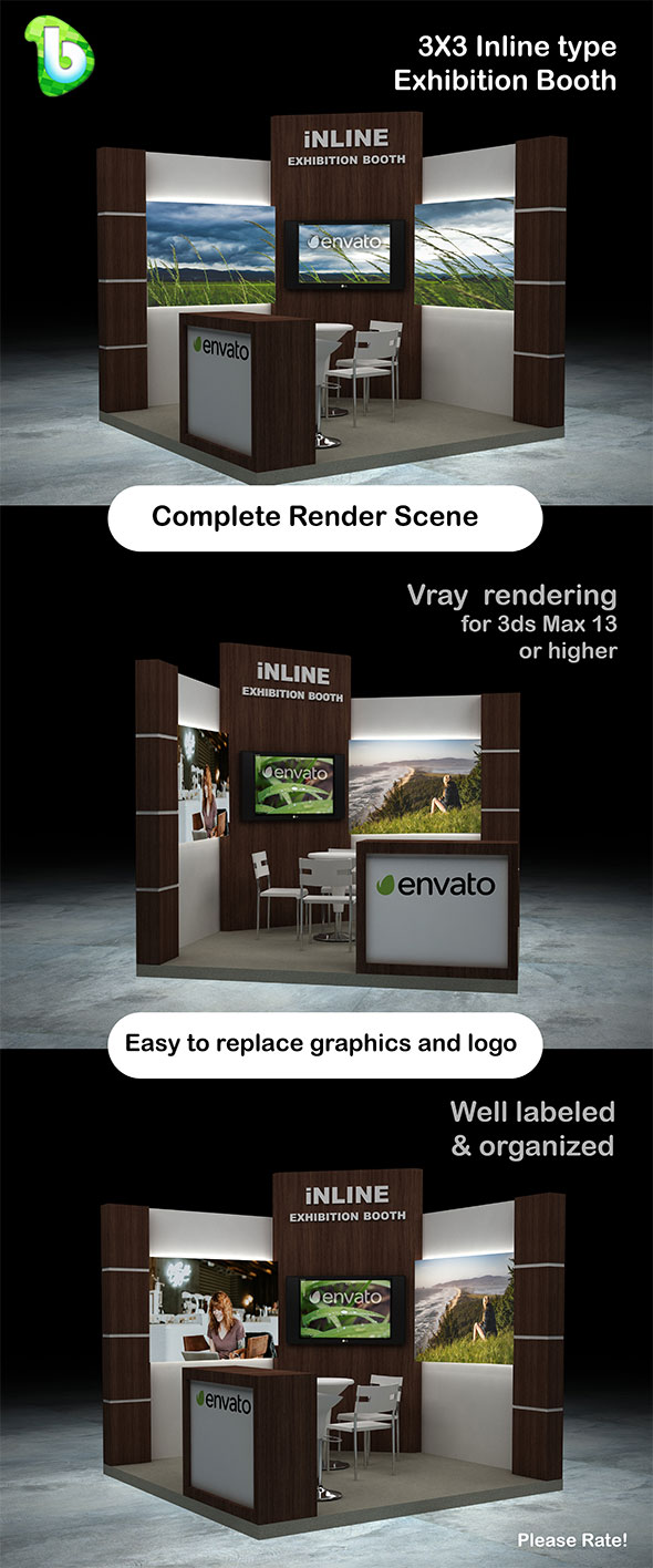 Exhibition Booth Obj : Exhibition booth cg textures & 3d models from 3docean