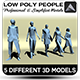Low Poly People - 3DOcean Item for Sale