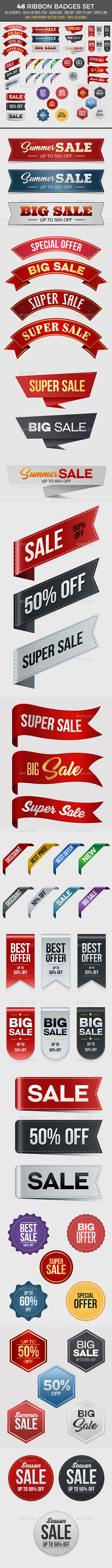 Badges & Sticker Templates from GraphicRiver