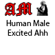 Human Male Excited Ahh