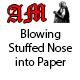 Blowing Stuffed Nose into Handkerchief