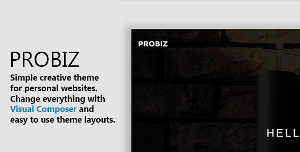 Probiz - Minimalist Personal Portfolio