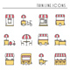 Street Food Retail Icons. Food Truck - GraphicRiver Item for Sale