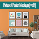 Picture / Poster Mockups [vol6] - GraphicRiver Item for Sale