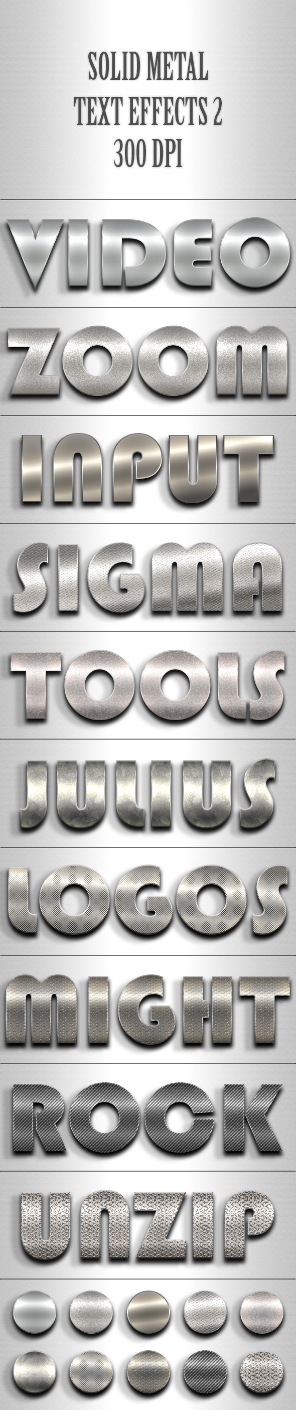 Solid Metal Text Effects 2