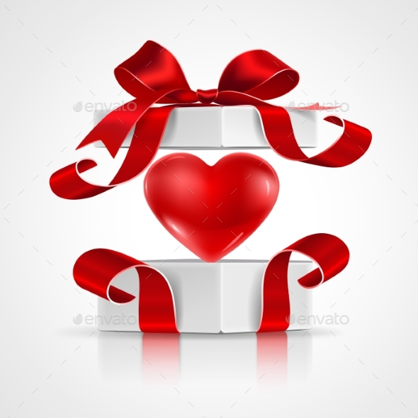 Open Gift with Heart