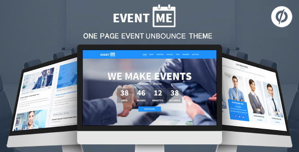 EventMe – Corporate Event Landing Unbounce Theme