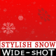 Falling Snow on Red Background - Wide - VideoHive Item for Sale