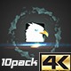 Fast Smoky Streaks Logo Sting Pack - VideoHive Item for Sale