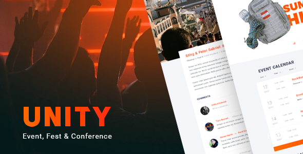 Unity – Event, Fest & Conference WordPress theme
