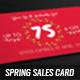 Spring Sales Card 2 - GraphicRiver Item for Sale