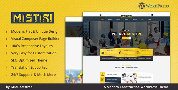 Mistiri - Construction Company Theme