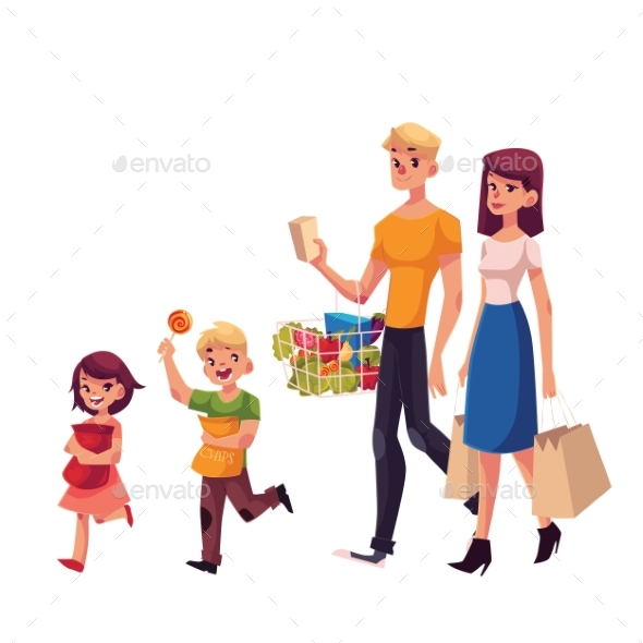 Family of Father, Mother, Daughter and Son