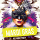 Mardi Gras Party Template - GraphicRiver Item for Sale