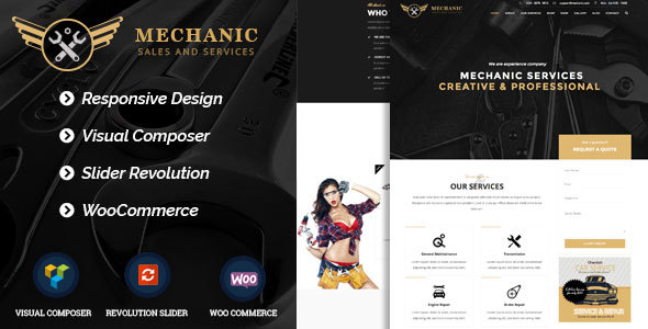 Mechanic - Car Service & Workshop WordPress Theme