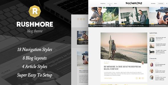 RushMore - A Responsive WordPress Blog Theme