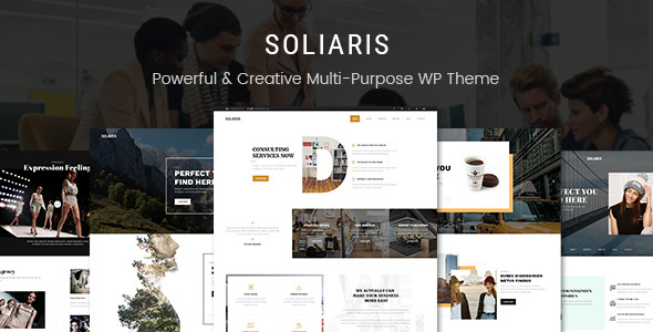 Soliaris - Business Bootstrap WordPress Theme