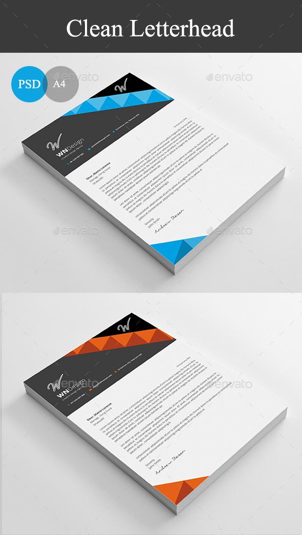 Minimal Letterhead Graphics Designs Templates