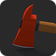 Low Poly Fireaxe - 3DOcean Item for Sale