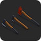 Low Poly Axe Pack - 3DOcean Item for Sale