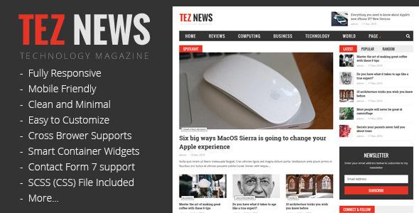 TezNews - Responsive Magazine & News Theme