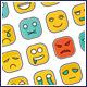 Square Emot Icons Set - GraphicRiver Item for Sale
