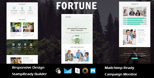 FORTUNE - Multipurpose Responsive Email Template + Stampready Builder