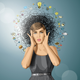 Surprised Girl in Dress - GraphicRiver Item for Sale
