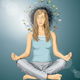 Woman Meditation in Lotus Pose - GraphicRiver Item for Sale