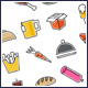 Tasty Food Icons Set - GraphicRiver Item for Sale