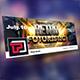 Retro Futuristic Facebook Cover Template - GraphicRiver Item for Sale