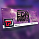 EDM Party Facebook Cover Template - GraphicRiver Item for Sale