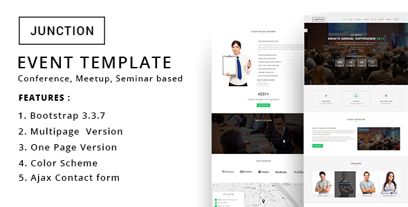 Junction - Event Meeting Conference Business Template