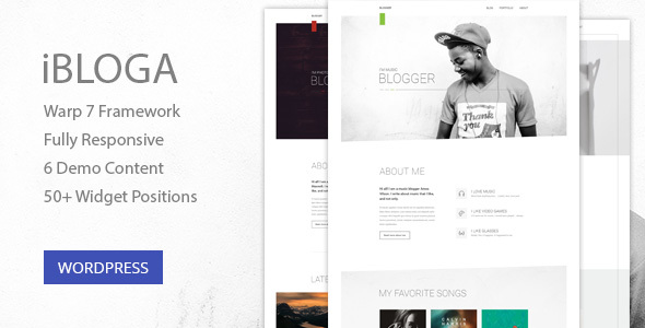 iBloga — Multipurpose Blog Template for creative professions