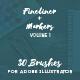 30 Adobe Illustrator Brushes Fineliner Plus Markers - GraphicRiver Item for Sale