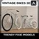 Vintage Bikes 3D - 3DOcean Item for Sale