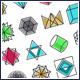 Geometric Icons Set - GraphicRiver Item for Sale