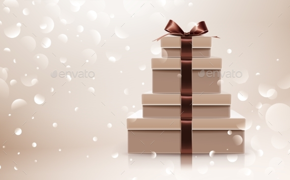 Gift Collection with Brown Bow