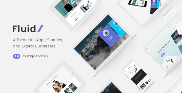 Fluid - Startup and App Landing Page Theme